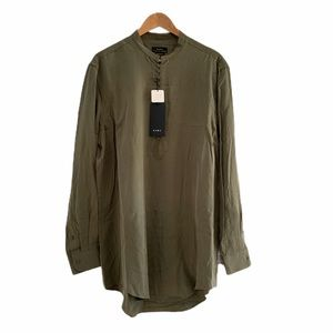NWT Zara Relaxed Fit Tunic Popover Button Front Lg
